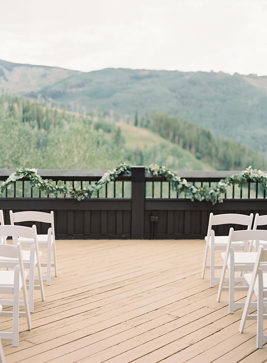 Aspen Wedding View on Film