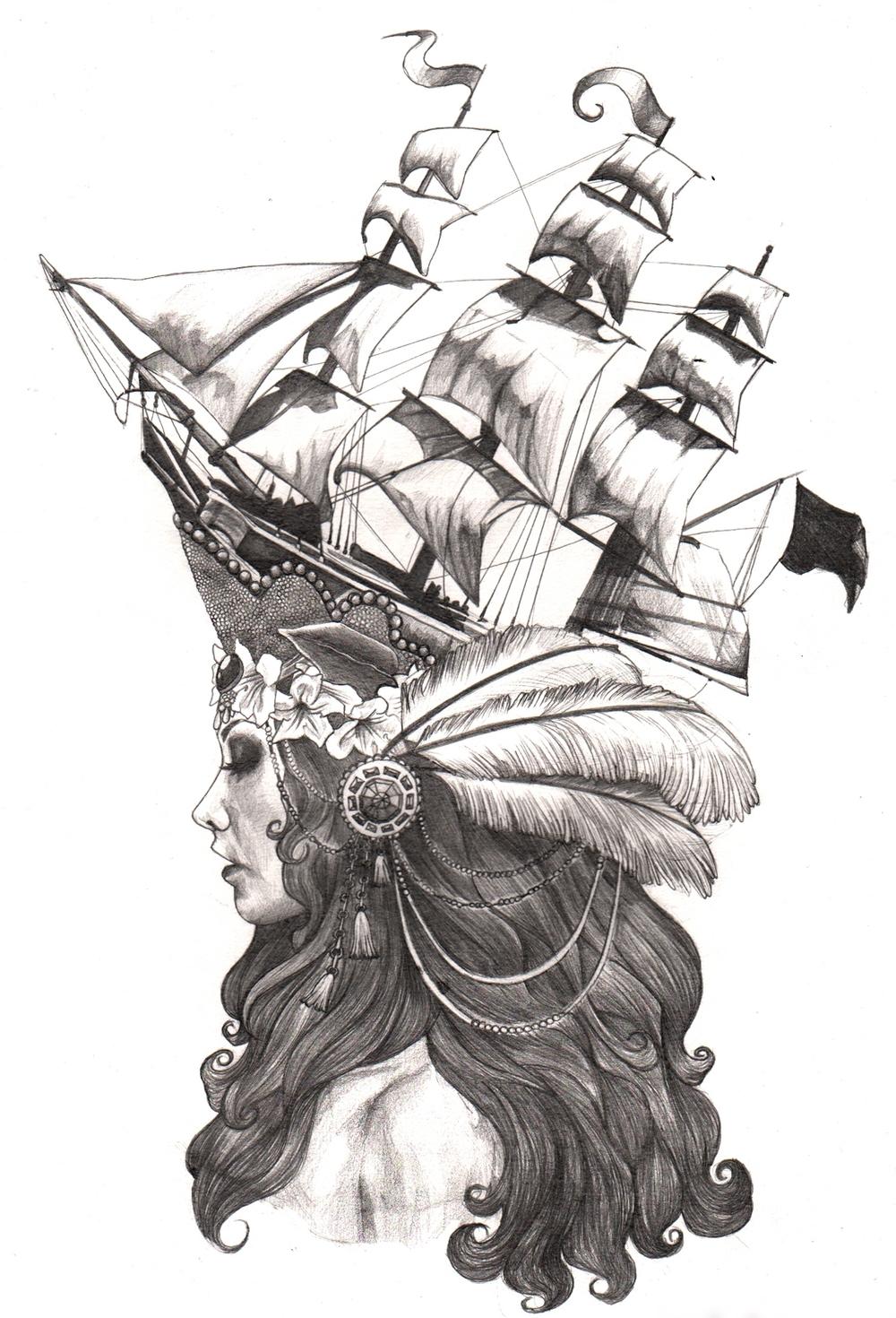 Marie Antoinette Ship Hat