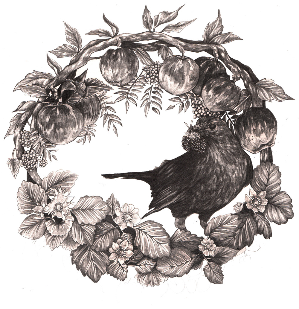Blackbird Wreath