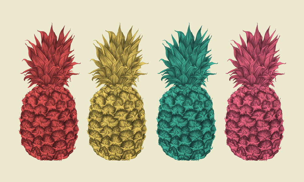 Palm Springs - Coloured Pineapples