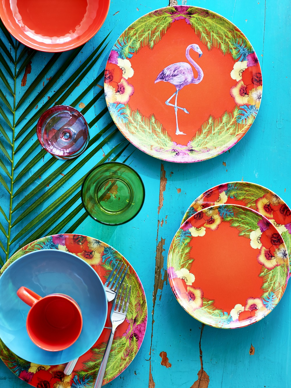 Palm Springs Collection - Flamingo Plates