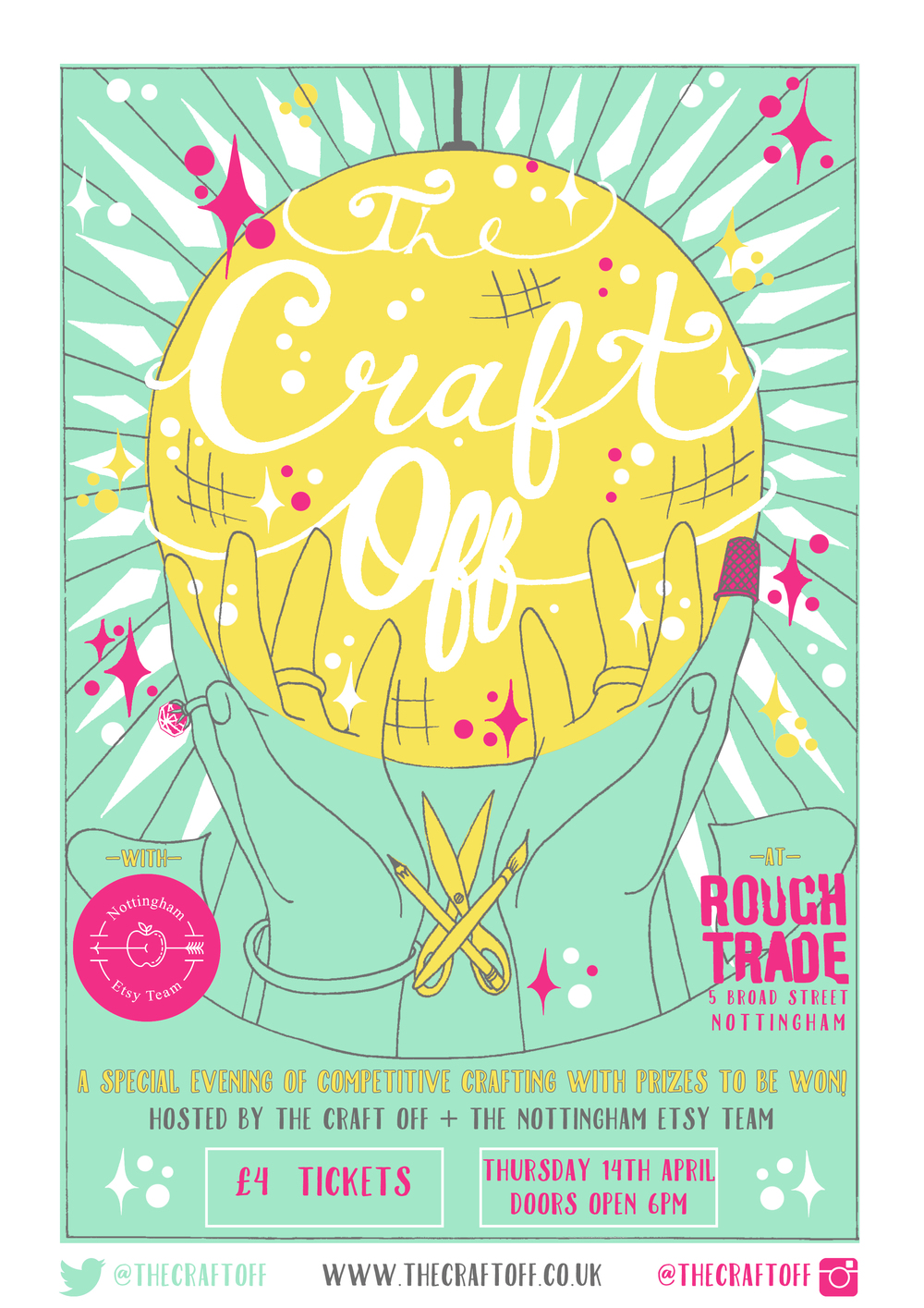 Poster designed for The Craft Off event