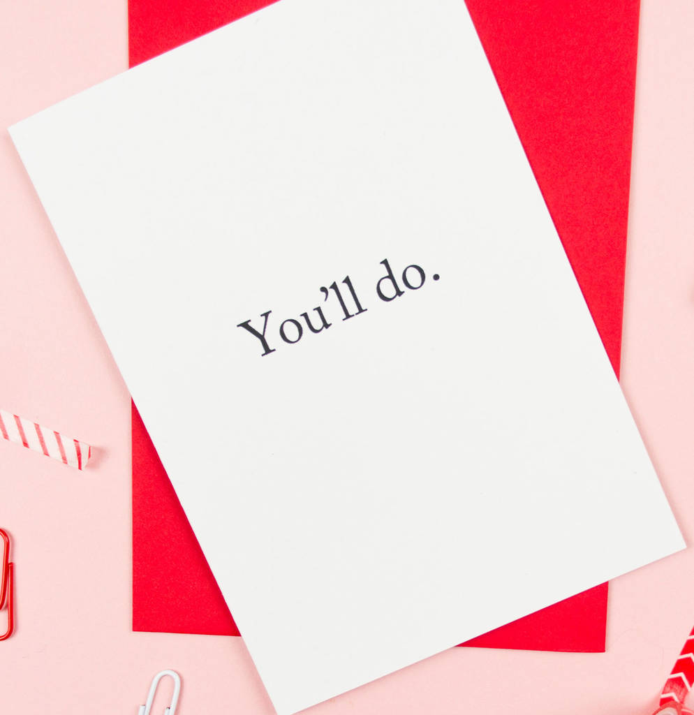 And if you literally can't deal with any level of mush, then this is the ideal card for emotion introverts. [Card and image from Darwin Designs .]
