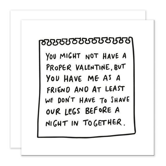 And finally an essential Galentine's card [Card and image from Veronica Dearly .]