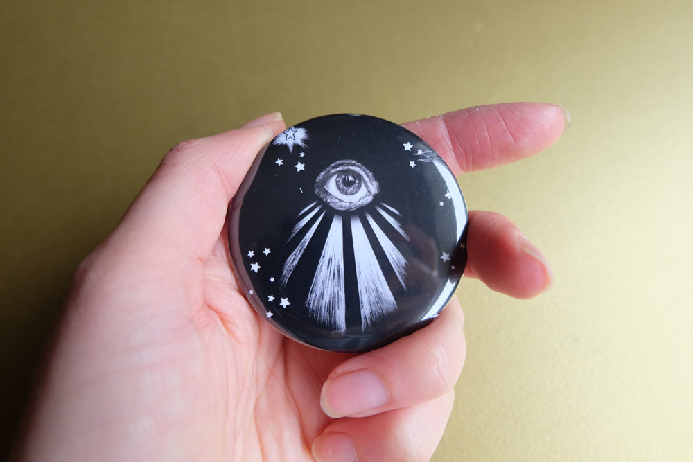 All Seeing Eye Pocket Mirror - A little bit of mysticism for your handbag.