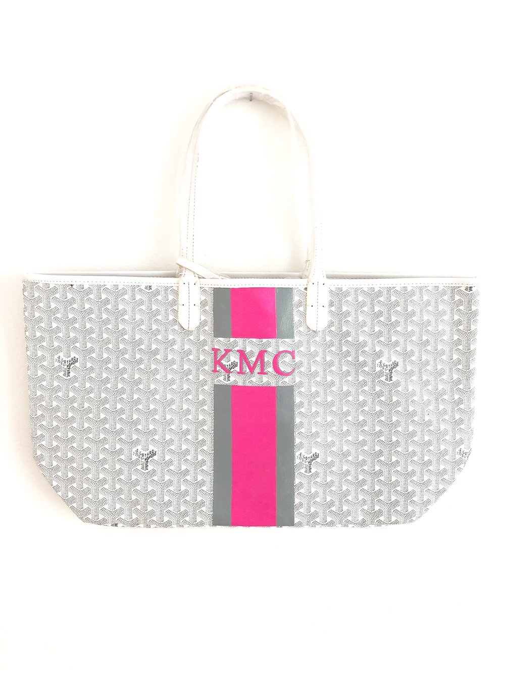 "Grey | Bright Pink - Mini 1"" Monogram"
