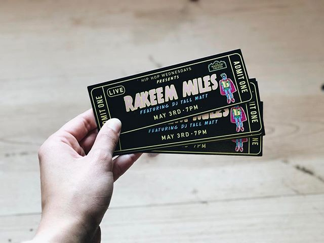 Kicking off Spring with Hip Hop Wednesdays! May 3rd @rakeemmilesraps all the way from Baltimore, MD will be joining us. Tickets available at the Madison Theater and @tierracoffeeroasters selling out quick so grab yours now! See you there 👋👋👋 #hiphopwednesdays #rakeemmiles