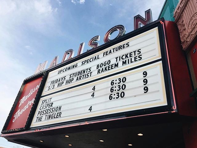 This weekends line up 😉 stop by grab some popcorn and say hello!! 🤙🤙 📸: @firstblood1982  #themadisontheater