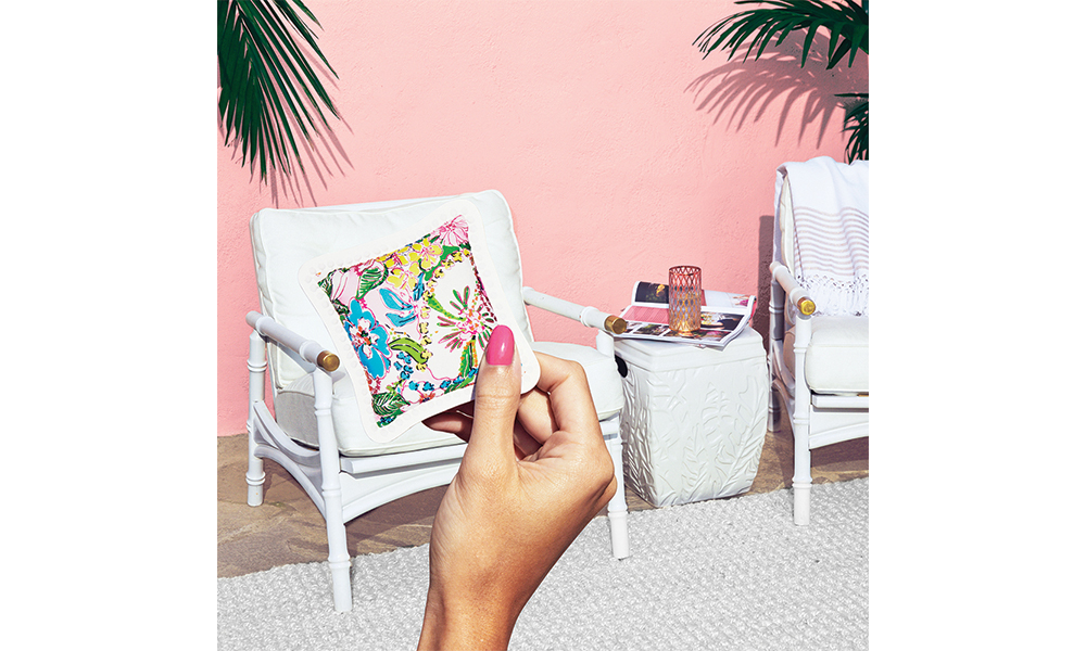 Let's talk pillows. Grab a drink, sit back and imagine #lillyfortarget in your life by printing your own cutouts and playing along. Link in bio over at @lillyfortarget for more. Collection available 4/19.