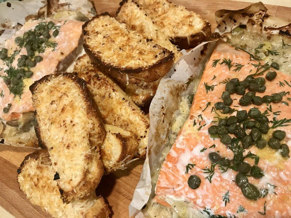 Sealed Salmon + Leeks -