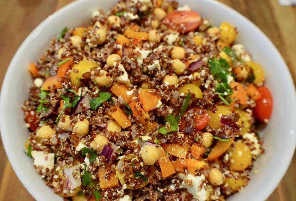 Feta + Chickpea Quinoa Salad -