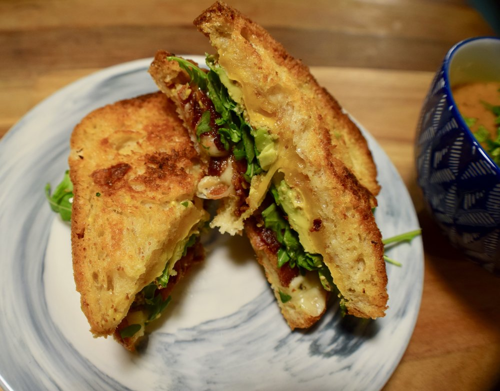 Ultimate Green Grilled Cheese -