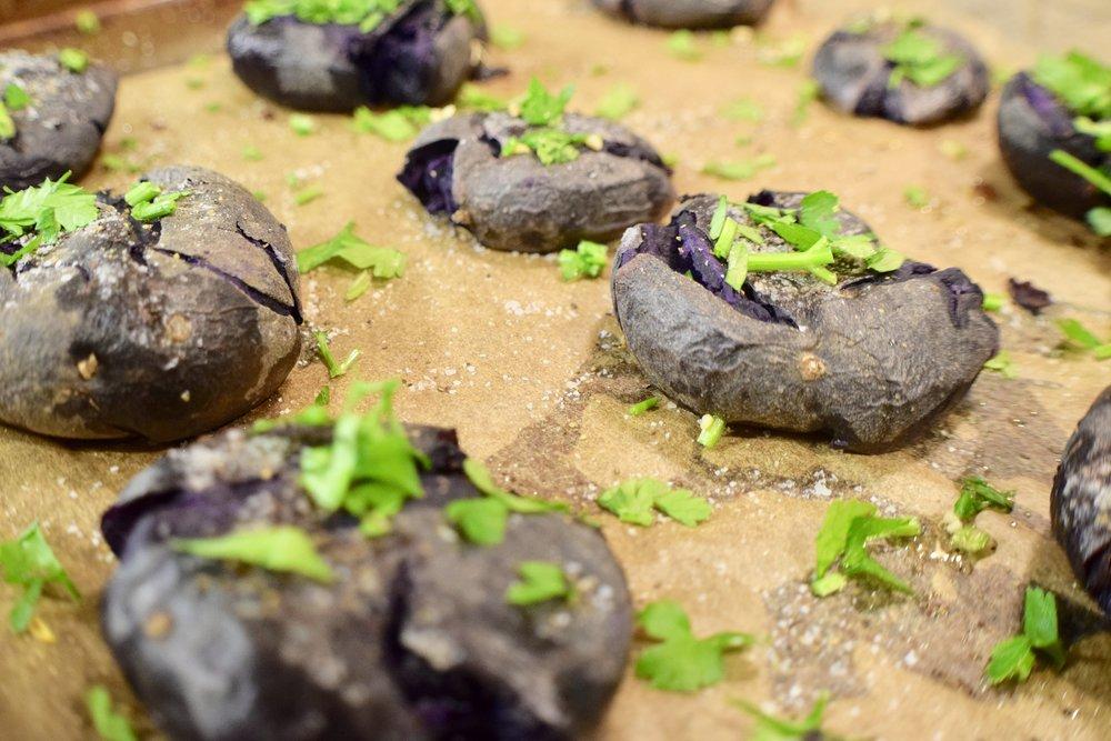 Herby Purple Potatoes -