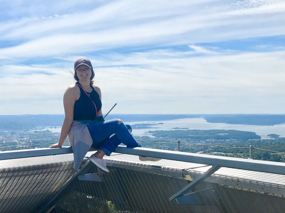 On top of the world in Oslo!!