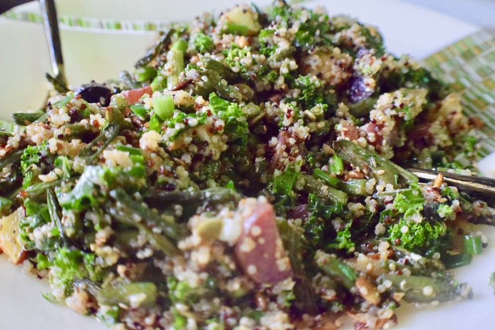 Roasted Green Bean + Quinoa Salad -