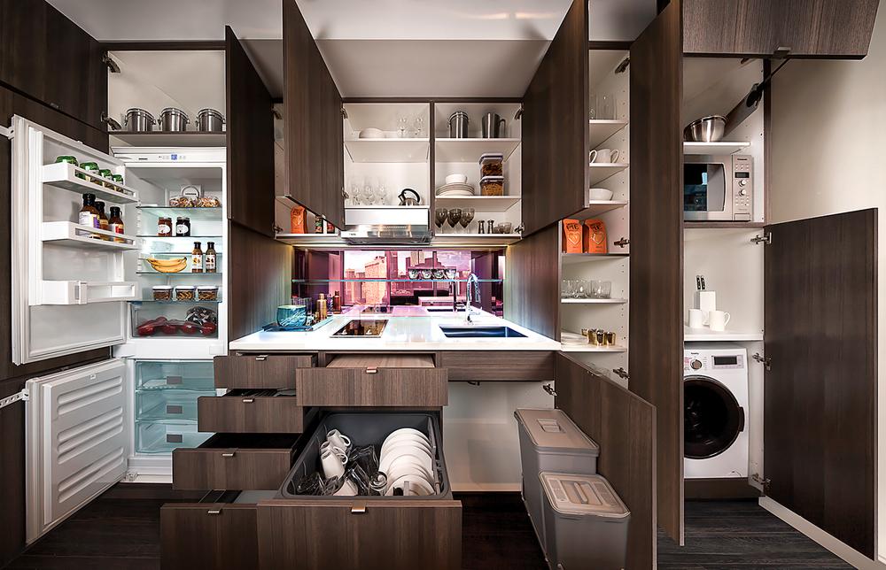 Smart House kitchen  — open