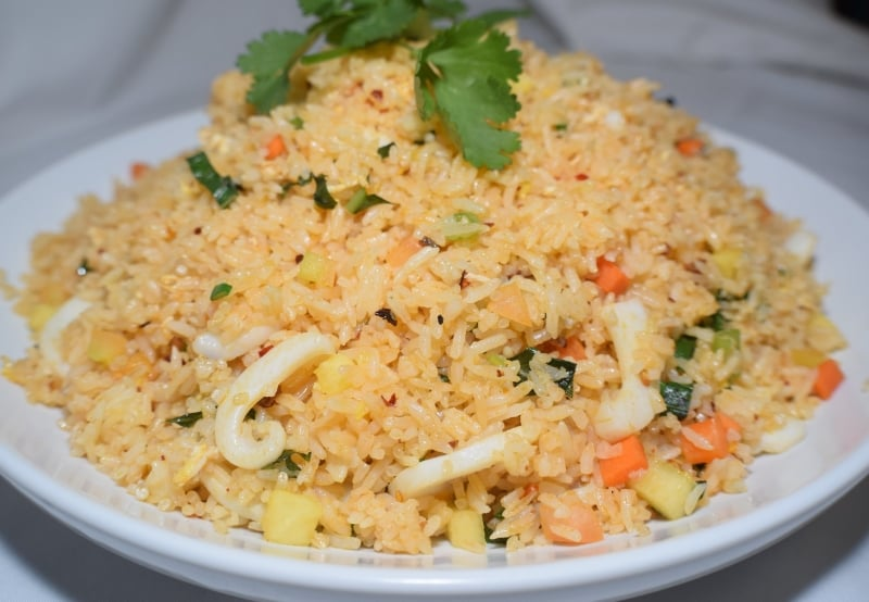 Hawaiian fried rice   Com chien Hawaii