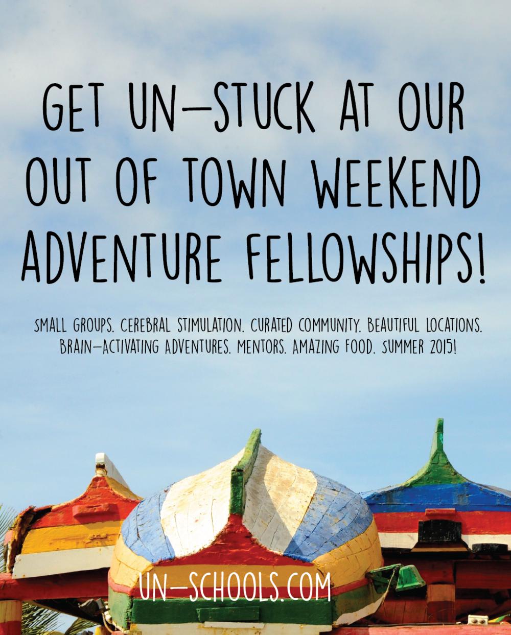 un-school weekend retreats for social change agents