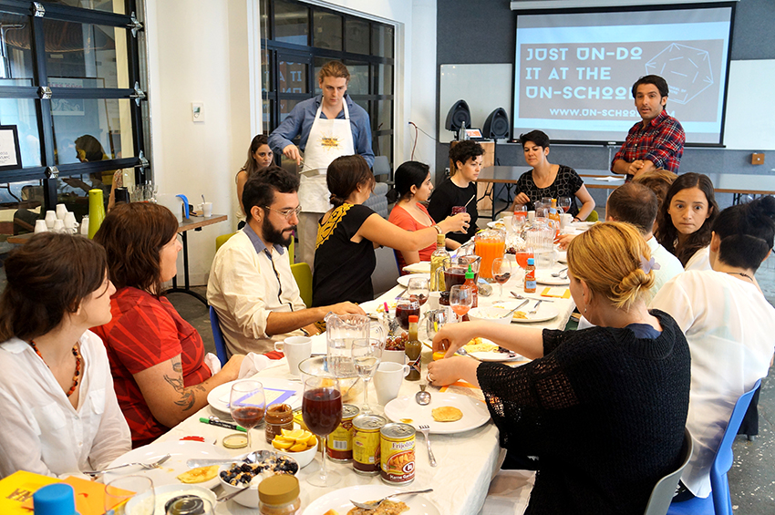 Pancake big breakfast day 2 of Un-School NYC