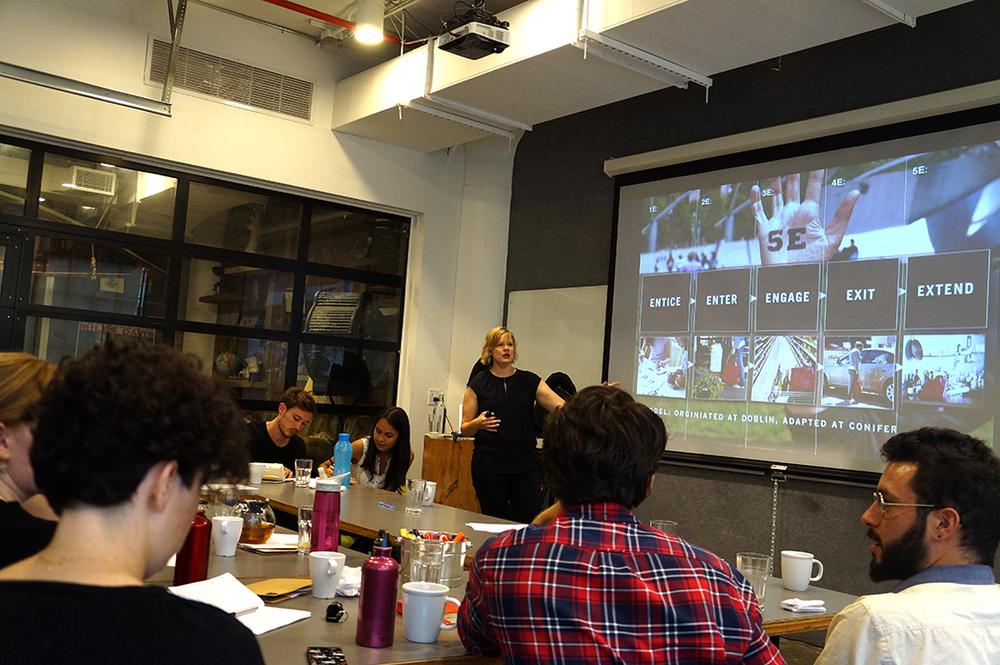 Megan Fath Presenting at the Un-School NYC