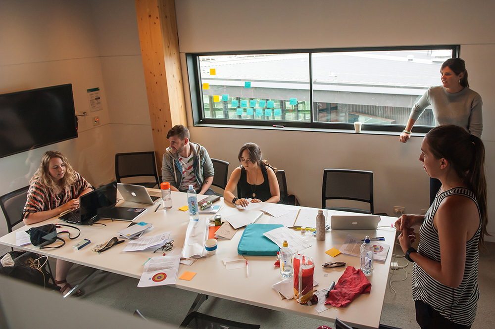 Fellows working on the Design Challenge