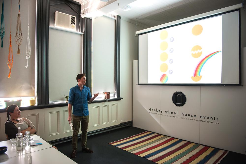 Chris Presenting at the Un-School