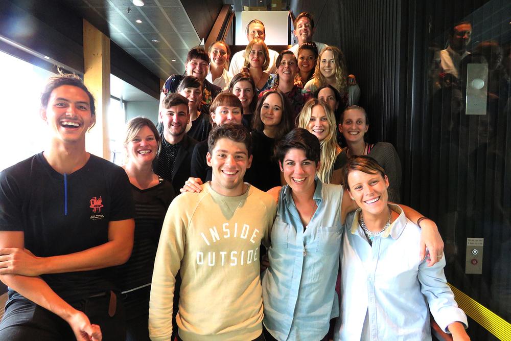 Wrap photo—the full Un-School Melbourne Fellowship cohort and team!