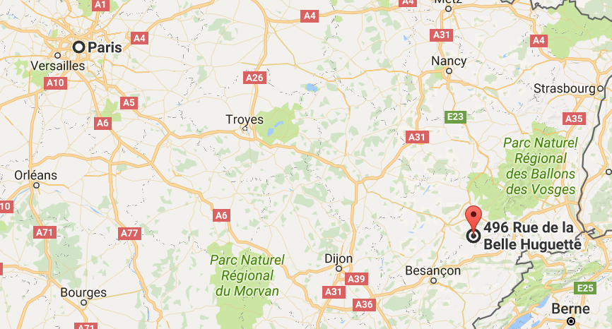 map of unschool France masterclass location