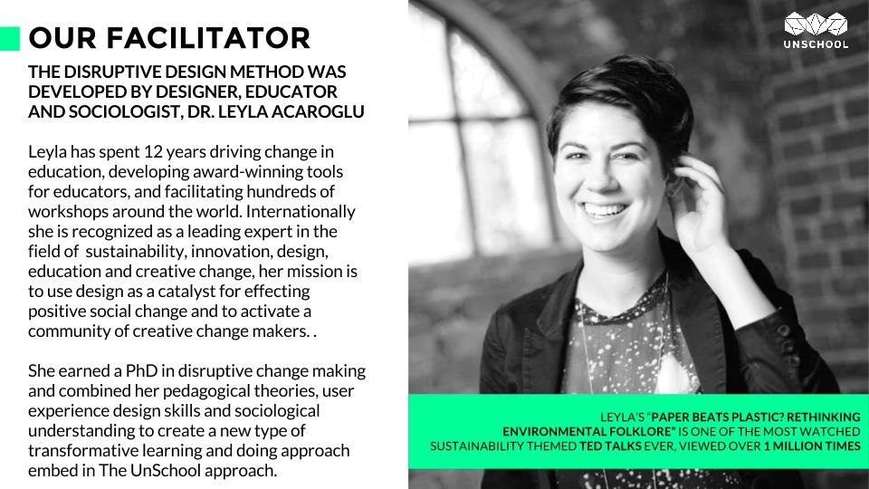 UnSchool founder Leyla Acaroglu