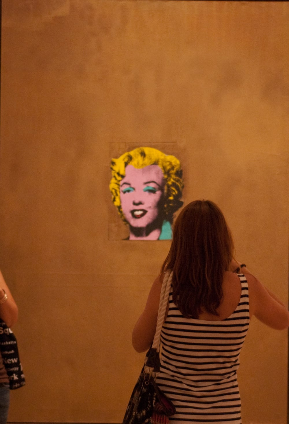 Lady Looking at Warhol 2010
