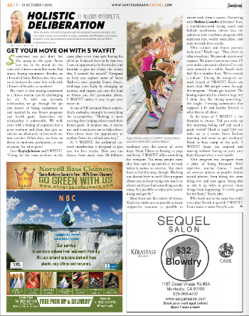Article written by Allison Antoinette for the Santa Barbara Sentinel, Oct 7-21 issue!