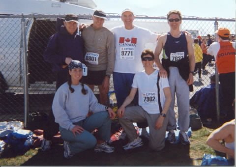 HRC's Boston Runners 2003 - Leo Kennedy, Brian McDonah, Tony Armson, Mike Orr, Jennifer Hoyt and Dianne Chiasson