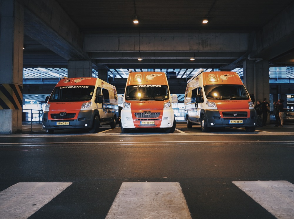 The pickup fleet at Brussels airport.
