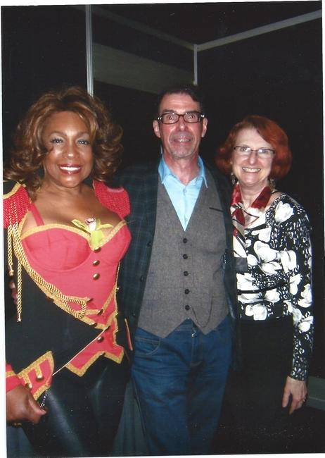 Mary Wilson of the Supremes is pictured with Tom Ingrassia and his wife, Barbara, in Boston in 2014. Photo/Tom Ingrassia