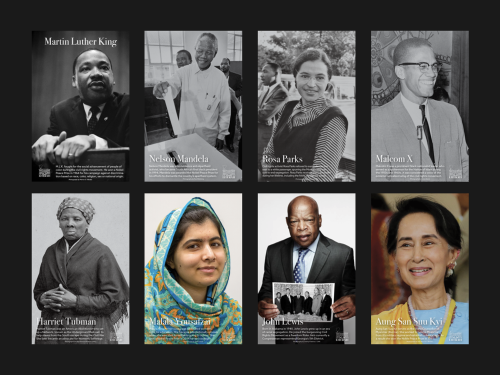 The Full Series of Posters each featuring a different Civil Rights Activist.