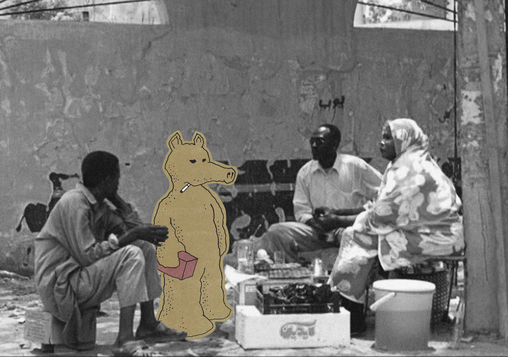 """Quasimoto"" - ""Music is one of my biggest inspirations, and Quasimoto is Madlib's alter ego, and as such, I tried to bridge the gap and highlight the cultural clash that I feel and go through, and the characteristic draws a clear picture of my life in Sudan."""