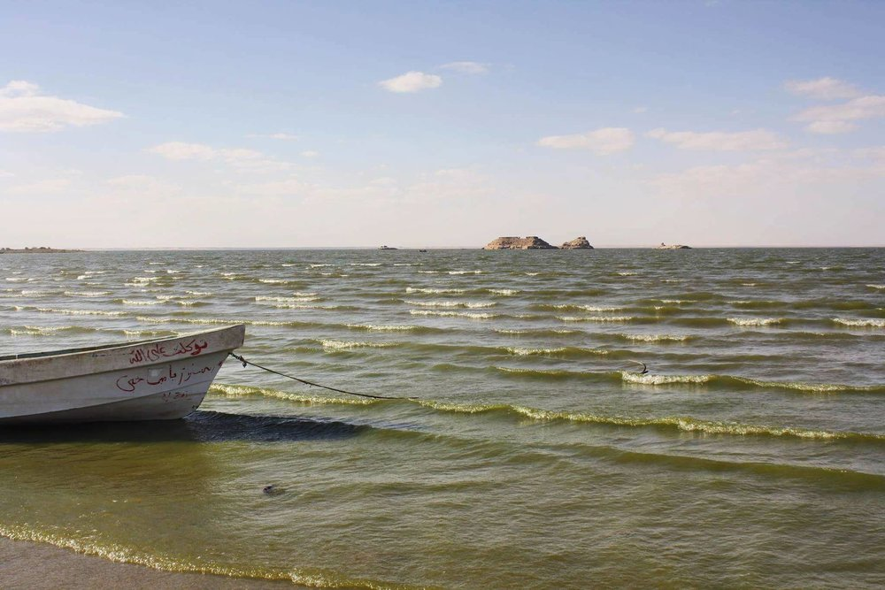 Fishing boat on Lake Nasser in Wadi Halfa, Sudan. By Najla Salih.