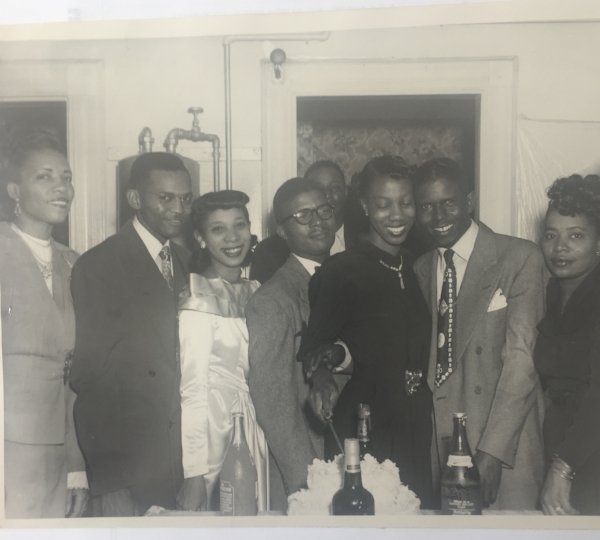 Fred and Lutrell at their wedding, October 1943
