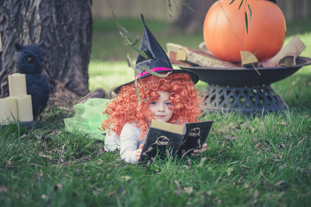 My little red-haired witch. She is a good witch and not a bad witch...most of the time.