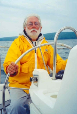 Author Carl Brookins - Sailing on Lake Superior 2004