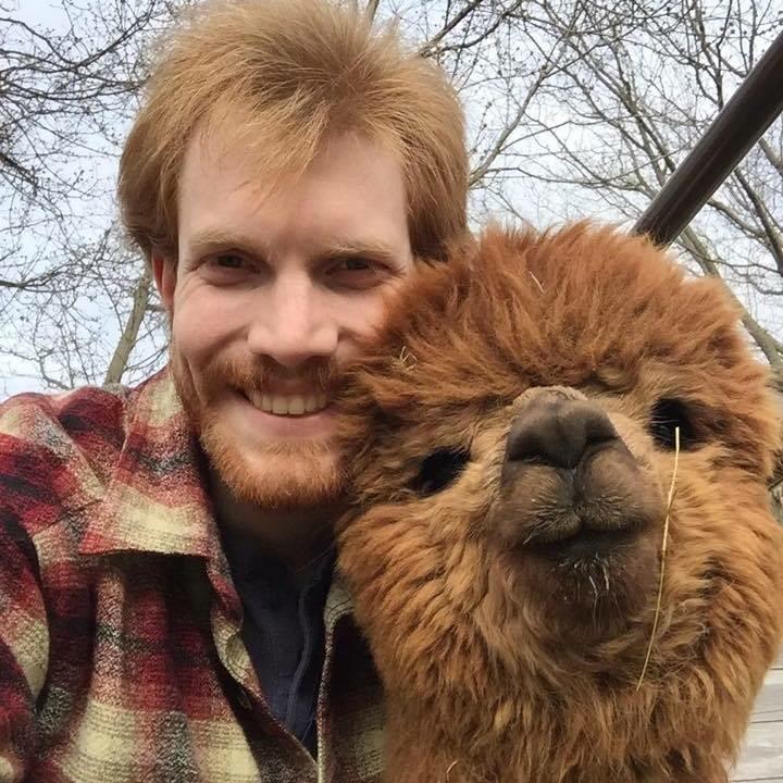 Host Bob with his alpaca Ringo