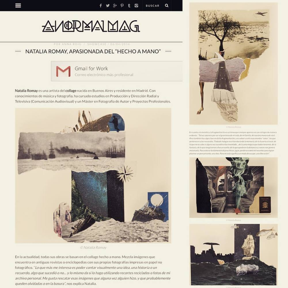 Entrevista por Anna Roig. http://artes.anormalmag.com/showcase/natalia_romay_collage/