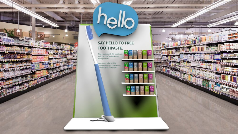 Users begin by taking a selfie with our giant toothbrush to receive a free tube