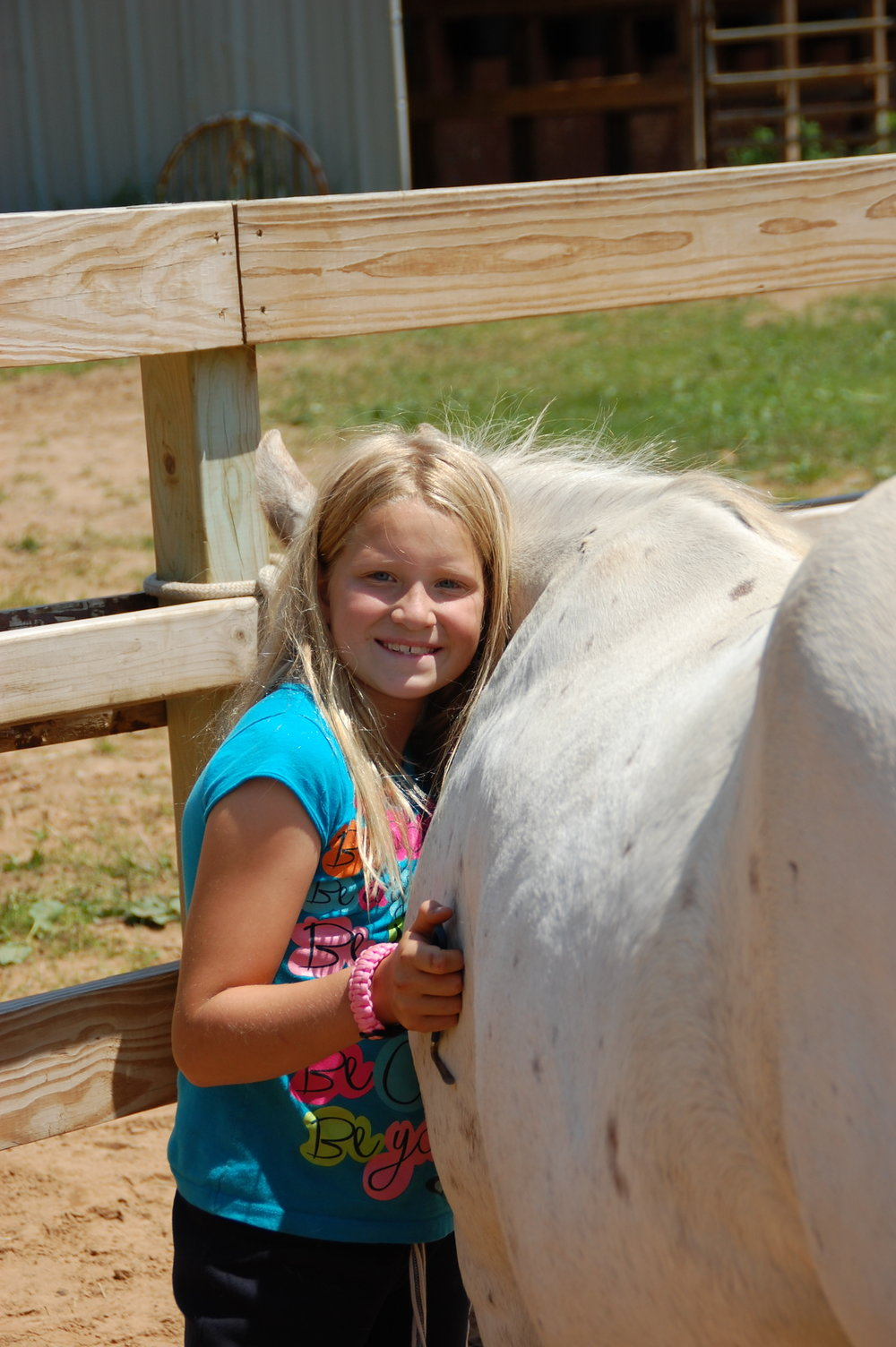 Trailblazer & Explorer campers with a love for horses can sign up for the rough riders horse elective to learn the basics of western riding, grooming, saddling and horse care while hanging out with new friends and friendly horses.   Space is limited to 8 campers per week.