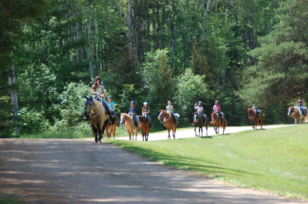 Trackers can hit the trail each day to   explore   the many beautiful wooded trails of Lake Ellen Camp while riding a friendly horse. You'll meet for an hour each day to take a   different   trail ride!      No prior experience required. Limited Space Available.