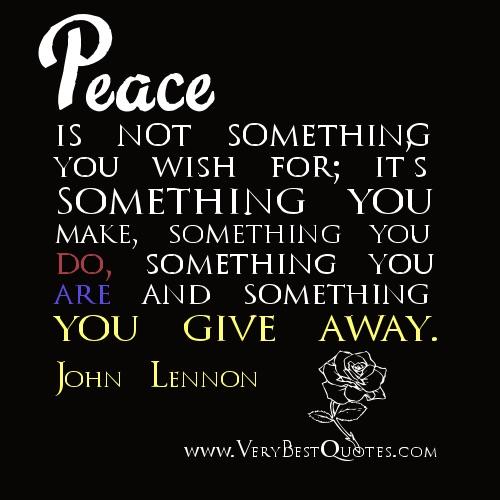Peace will always win..