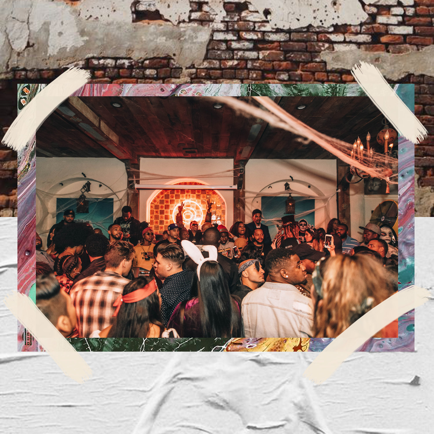 CROWD LISTENS TO TY DOLLA $IGN'S NEW ALBUM BEACH HOUSE 3 IN SANTA MONICA / PHOTO CREDIT: KAITO / DESIGN CREDIT: VANESSA ACOSTA