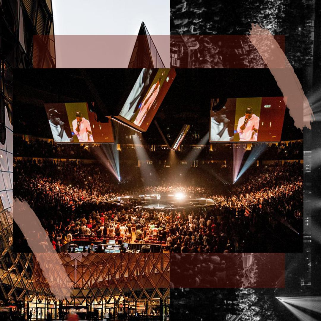 BIRDSEYE VIEW OF THE STAGE OF JAY-Z'S 4:44  TOUR/ PHOTO CREDIT: JAY-Z / DESIGN CREDIT:  VANESSA ACOSTA