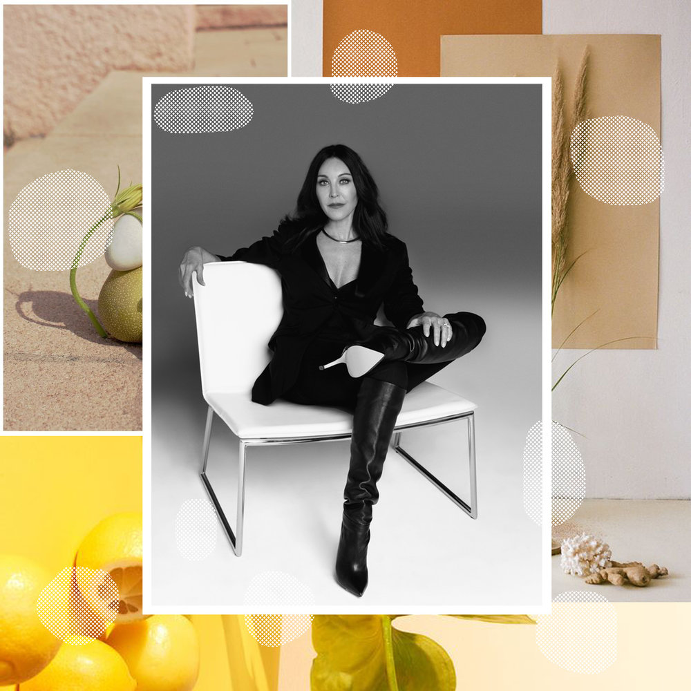 TAMARA MELLON CO-FOUNDER OF JIMMY CHOO DISCUSSED LAUNCHING A SUCCESSFUL COMPANY AT THE AGE OF 29 AS PART OF A SPEAKER SERIES AT BUMBLE HIVE LA   / PHOTO CREDIT:  TAMARA MELLON  / DESIGN CREDIT:  VANESSA ACOSTA