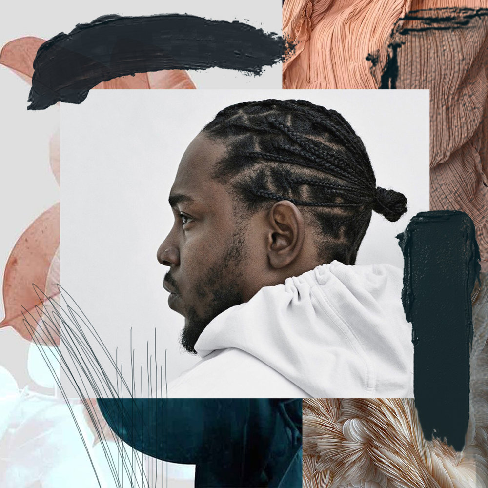 MULTIPLE SONGS BY OR FEATURING KENDRICK LAMAR ARE IN SPOTIFY'S US TOP 100  CHART / PHOTO CREDIT:  KENDRICK LAMAR  / DESIGN CREDIT:  VANESSA ACOSTA